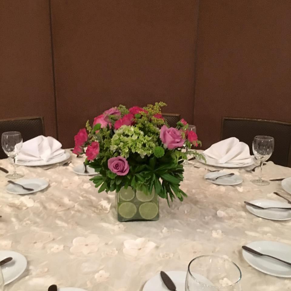 Centro de mesa cristal y limones - Centros de mesa con limones ...