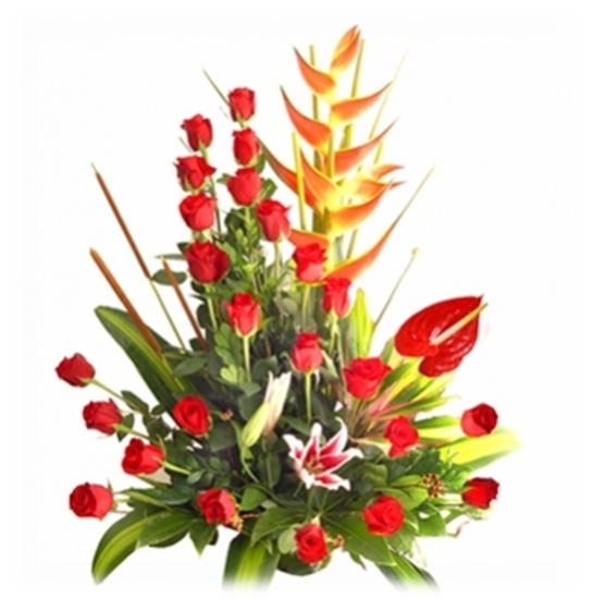 Grande  anthurium y rosas