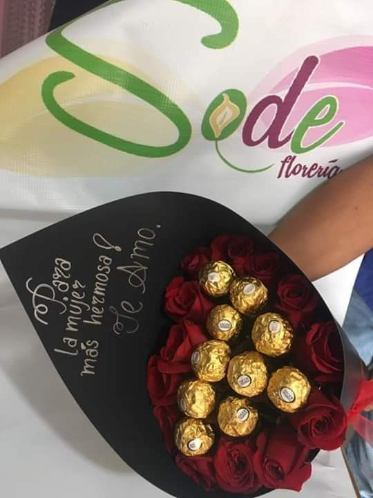 bouquet con  chocolates