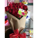 Bouquet  de 24 Rosas  Rojas