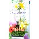 botella de tequila  decorada con flores