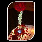 florero  con  orquidea