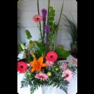 Arreglo,gerberas,lilies