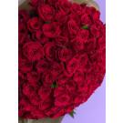 bouquet  de  80 rosas