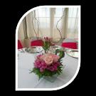 Centro de mesa Rosas y alstromerias