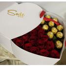 corazon doble  con chocolates