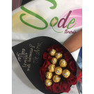 bouquet con  chocolates